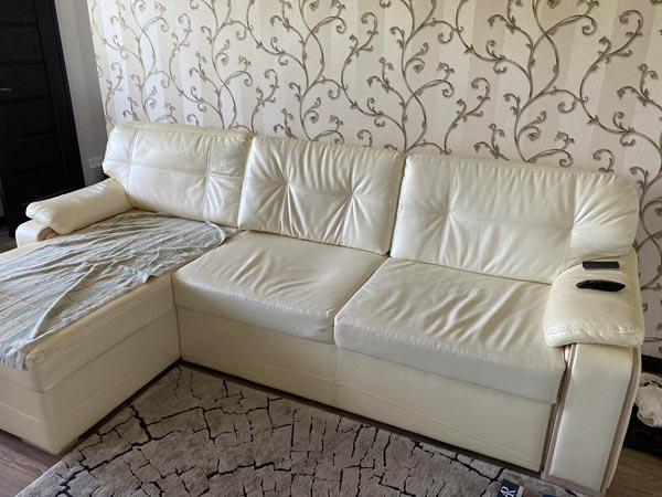 Перетяжка дивана и замена наполнителя
