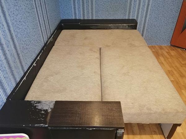 Ремонт спинки дивана и реставрация сиденья